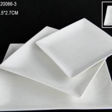 供应方形盘子-纯白方形盘子-白色盘子
