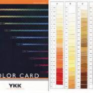 YKK拉链色卡图片