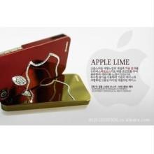 供应韩国iphone4s手机套施华洛镶钻外壳批发