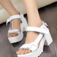2012新品欧美白色高跟鞋牛皮图片