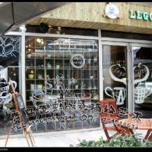 供应青岛咖啡馆墙绘壁画彩绘图片