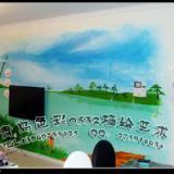 供应青岛手绘电视墙 电视墙彩绘 电视墙壁纸彩绘 供应商