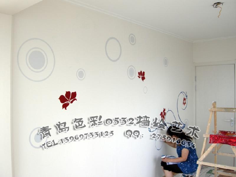 青岛电视背景墙彩绘价格及图片,图库,图片大全图片