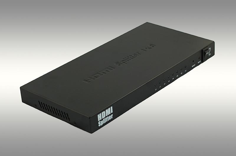 分配器图片 分配器样板图 HDMI分配器一进八出 深圳市双金...