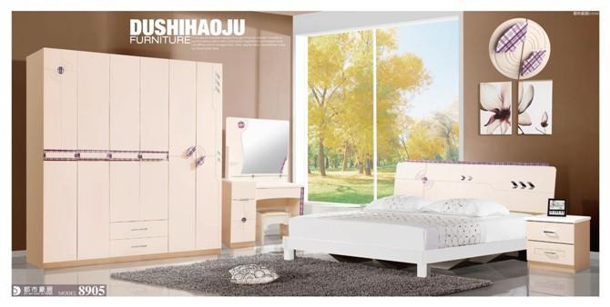 供应板式实木套房卧室家具图片