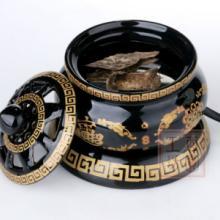 供应酉圆工坊4寸5寸金底双龙电子熏香炉,陶瓷材料,佛教用品批发