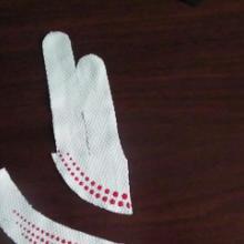 供应布料滴胶手套裁片滴胶硅胶印刷图案美观防滑加工