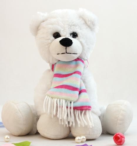 供应新款泰迪熊公仔毛绒玩具围巾玩具熊