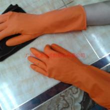 供应厂家直销家用洗碗手套 洗衣服家务清洁植绒保暖橱房洗碗手套