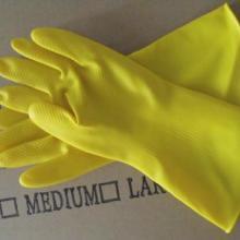 供应加厚牛筋乳胶手套洗衣手套乳胶防水家务手套批发图片