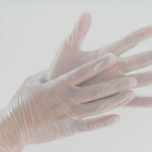 12寸无粉加长PVC手套图片
