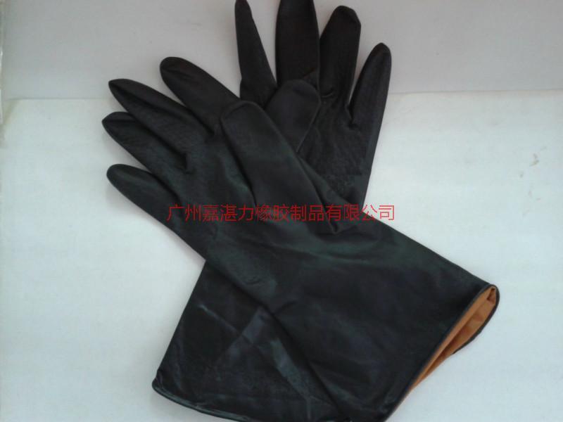 供应陕西工厂批发黑工业手套工厂防护工业手套