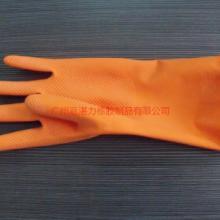 供应洗衣刷碗手套加厚加绒乳胶家用保暖型绒里卫生劳保手套批发
