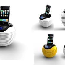 供应苹果iPod/iPhone通用底座音箱SD插卡酒店客房闹钟音箱