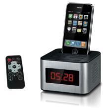 供应苹果iphone/ipod专用底座音箱SD插卡酒店客房闹钟音箱批发