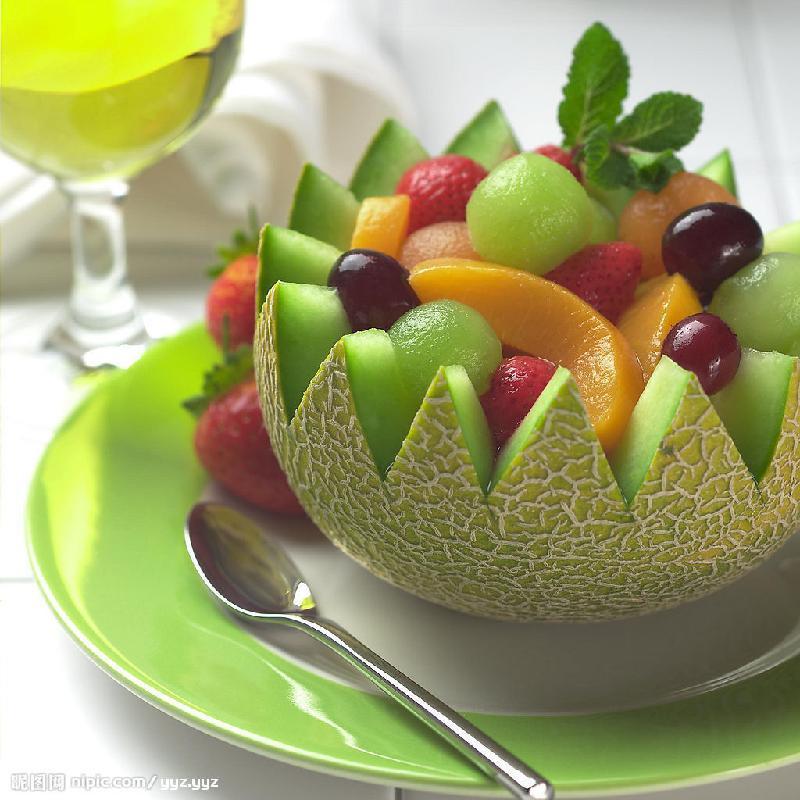 多种整水果雕刻水果拼盘制作图片