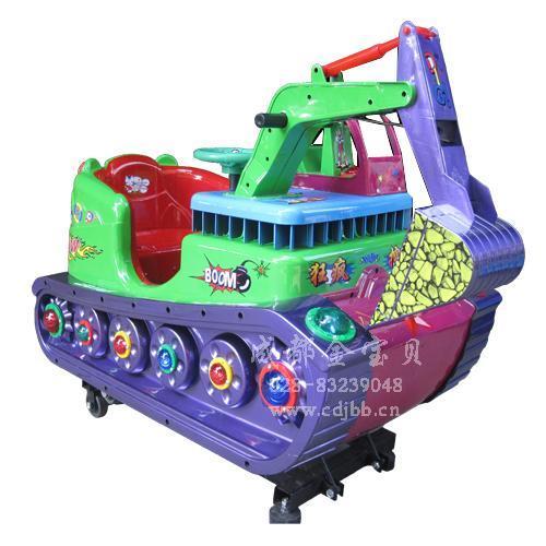 郑州儿童摇摆车激光坦克投币机生产图片大全