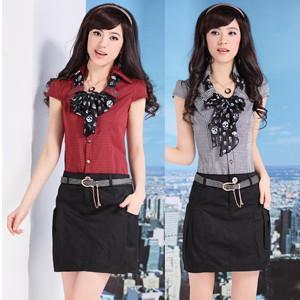 机车皮衣如何搭配韩版女装短裙图片