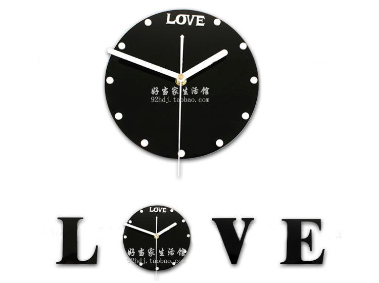 供应love挂钟创意艺术壁钟客厅墙壁图片