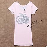 广州潮流女装最便宜的t恤批发外贸原单牛仔上衣批发夏装女t恤批发