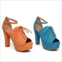 2012欧美时尚款丝绸面料超高跟鞋