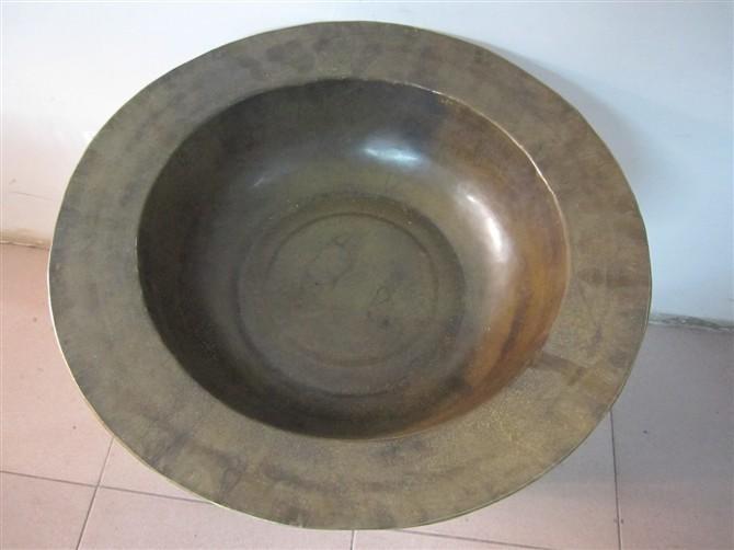 供应足疗盆纯铜加厚足疗铜盆宽边的盆子