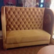 西餐咖啡厅高靠背卡座沙发图片