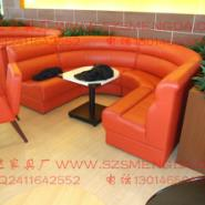 专业定制西餐咖啡厅异型沙发图片