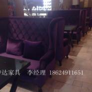 新款西餐咖啡厅高背沙发图片