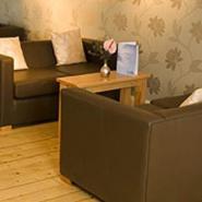 西餐咖啡厅休闲沙发图片