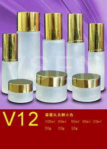 化妆品包装玻璃瓶v12套装图片