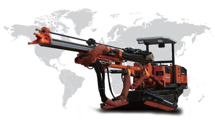 凿岩台车供应商/生产供应履带式双臂全液压凿岩台车图片