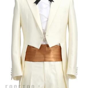 绅士礼服白色燕尾服上海定制图片