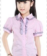 供应2012新款夏装韩版女童衬衫儿童衬衫批发