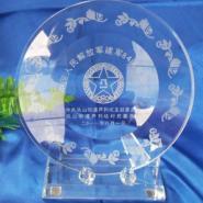 广州水晶奖盘制作图片