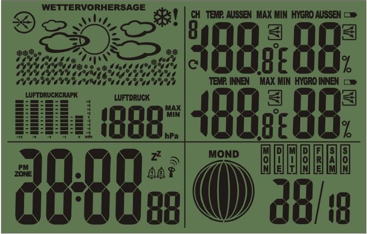 供应st-2022大气压天气预报lcd气象钟图片图片
