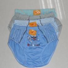 供应卷装儿童三角内裤/纯棉男童三角裤批发