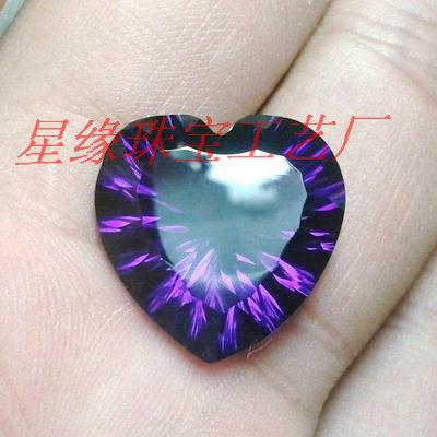 人造水晶图片 人造水晶样板图 合成宝石人造水晶蓝晶紫晶...