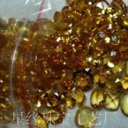 黄晶宝石戒面图片