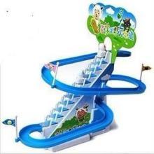 电动玩具 喜洋洋爬楼梯 喜羊羊旋转滑梯 滑梯轨道玩具 益智玩具批发