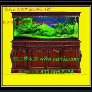 北京鱼缸厂家供应古典实木鱼缸图片