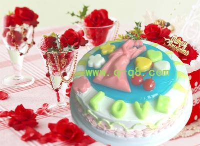q果冻屋玫瑰蛋糕图片