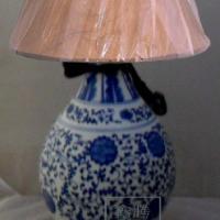 供应景德镇陶瓷灯具批发/陶瓷台灯定做