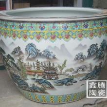 供应景德镇釉上粉彩陶瓷缸