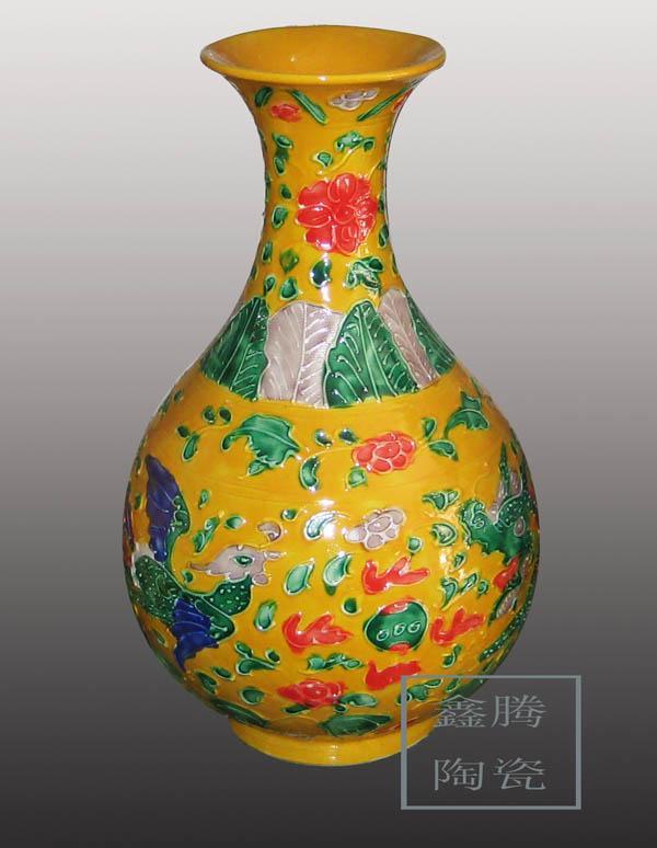 供应五彩花瓶 景德镇陶瓷花瓶