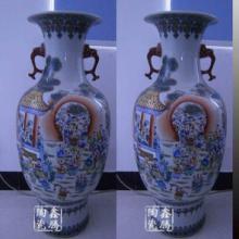 供应粉彩仿古花瓶,景德镇鑫腾厂家订做粉彩仿古花瓶