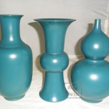 供应鑫腾陶瓷直销色釉三件套花瓶批发
