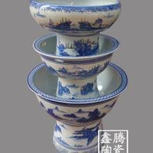 供应高脚陶瓷缸 青花陶瓷缸