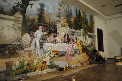 墙,学校大厅形象墙设计,宾馆大厅形象墙,公司大厅形象墙效果图高清图片