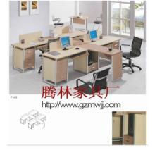 供应高档写字楼开放式办公桌/四人位组合办公电脑桌/广州办公家具厂家图片
